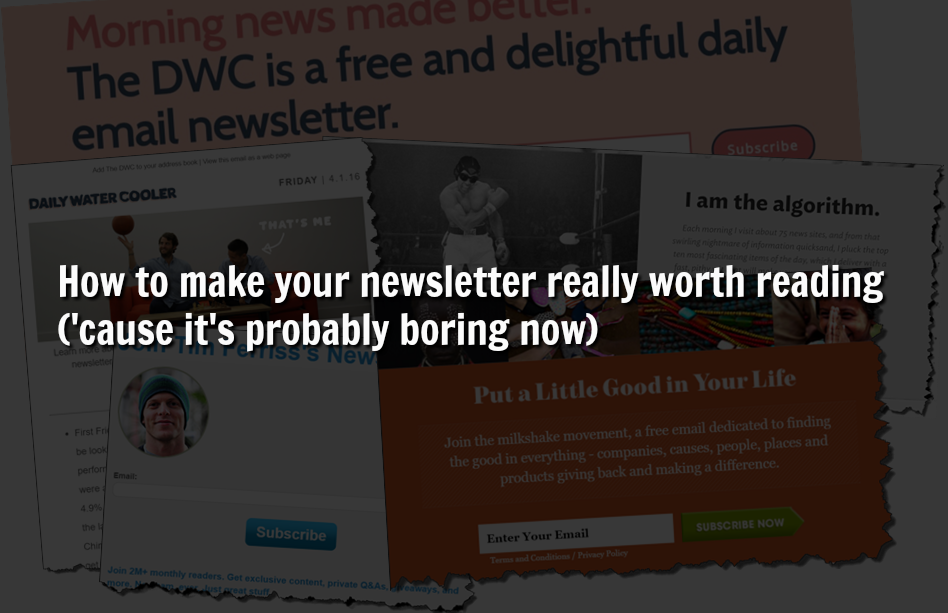 Newsletters Overlay